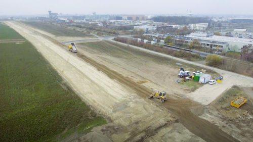 Bau der Haupterschließungsstraße